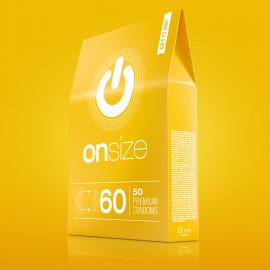Onsize 60 Premium Condoms 50 pack