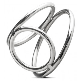 Sinner Gear Unbendable Metal Cock and Ball Ring 067 50x40x30mm