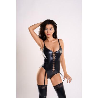 Glossy Classic Wetlook Suspender Body