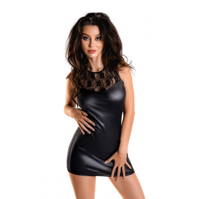 Glossy Wetlook Dress Lulu Black