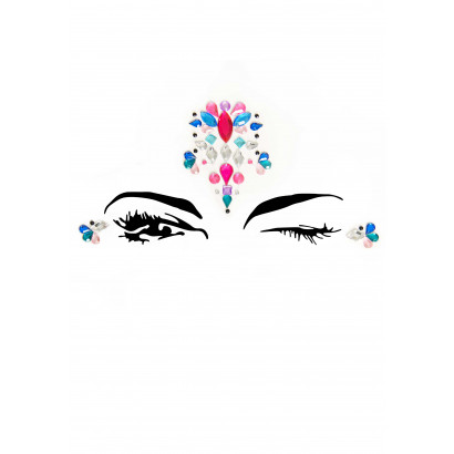 Leg Avenue Sirene Face Jewels Sticker EYE005