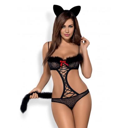 Obsessive Gepardina Costume Černá