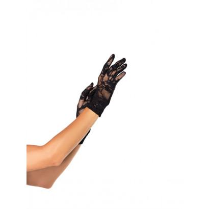 Leg Avenue Wrist length stretch gloves G1280 - Krajkové rukavičky