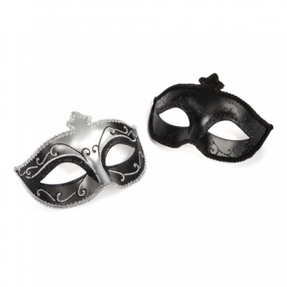 Fifty Shades of Grey Masquerade Mask Twin Pack - Sada dvou luxusních masek na oči