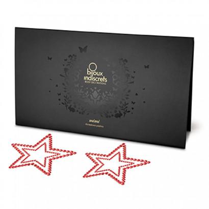 Bijoux Indiscrets Mimi Star Red - ozdoby na bradavky