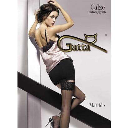 Gatta Matilde - Samodržící punčochy Nero Černá