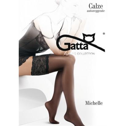 Gatta Michelle 03 - Samodržící punčochy Nero Černá