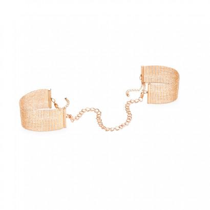 Bijoux Indiscrets Magnifique Handcuffs Gold - Kovová ozdobná pouta Zlatá