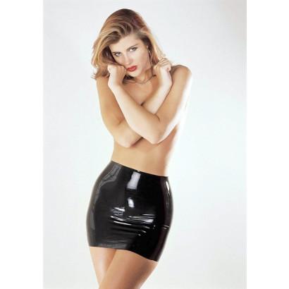Sharon Sloane Latex Mini Skirt - Latexová mini sukně Černá