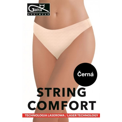 Gatta String Comfort - Bezešvé tanga Černá