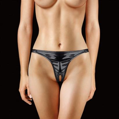 Ouch! Adjustable Panty - Tanga s mini vibrátorem Černá