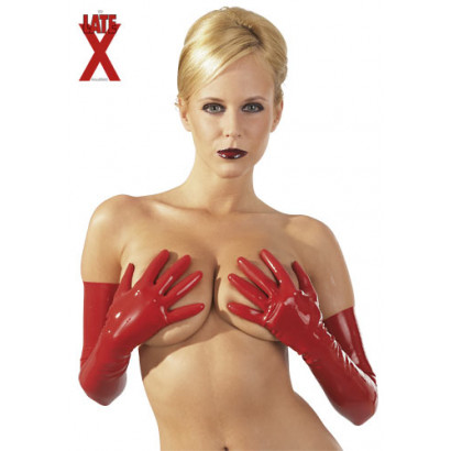 LateX Gloves - Latexové rukavice Červená