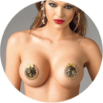 Me Seduce NC005 Nipple Covers Gold