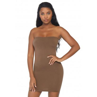 Leg Avenue Seamless Bodycon Tube Dress NK002 Warm Brown