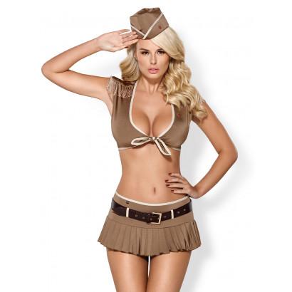 Obsessive 814-CST-4 Soldier Costume 5 pcs Beige
