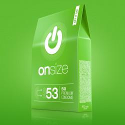 Onsize 53 Premium Condoms 50 pack