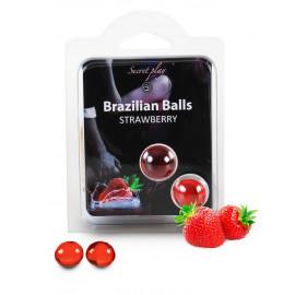 Secret Play Brazilian Balls Strawberry 2 pack