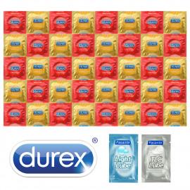 Durex Strawberry Banana Package - 40 Condoms + 2x Lubricant Pasante