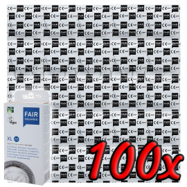 Fair Squared XL 60 - Fair Trade Vegan Condoms 100 pack