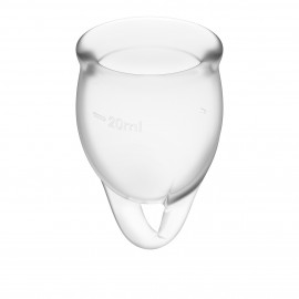 Satisfyer Feel Confident Menstrual Cup Transparent