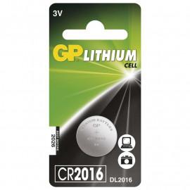 Battery Lithium Button GP CR2016 1 pc