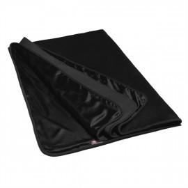 Liberator Fascinator Throw Velvish Black - Luxury Bed Bedspread Black Prez