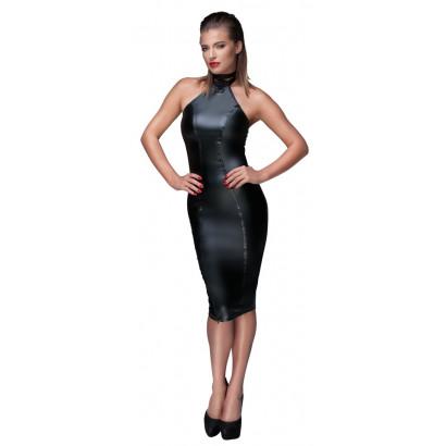 Noir Handmade F160 Powerwetlook Pencil Dress