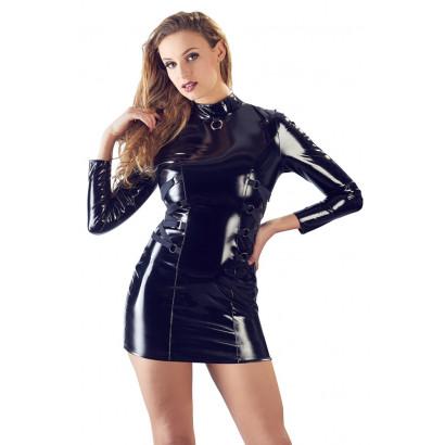 Black Level Vinyl Dress Long Sleeve