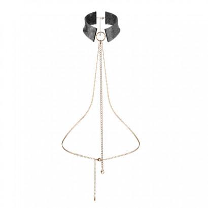 Bijoux Indiscrets Désir Métallique Collar - Black Metal Decorative Collar
