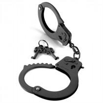 Fetish Fantasy Designer Cuffs - Black Metal Handcuffs