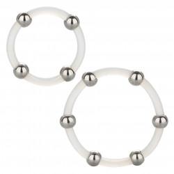 California Exotics Steel Beaded Silicone Ring Set