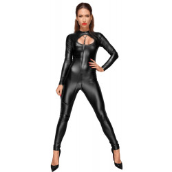 Noir Handmade Jumpsuit with Leash 2730391