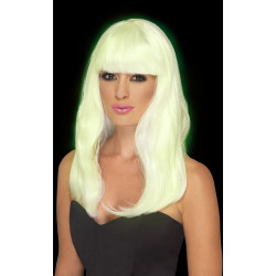 Fever Glam Party Wig Glow in the Dark 45600