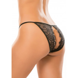 Allure Crotchless Enchanted Panty Black