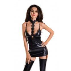 Glossy Wetlook Dress Ivy Black