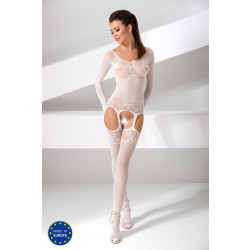 Passion Bodystocking BS055 White