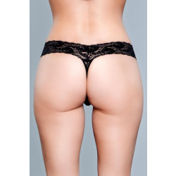 Be Wicked V-Cut Lace Panties Black