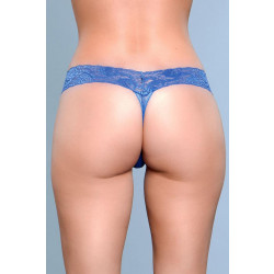 Be Wicked V-Cut Lace Panties Blue