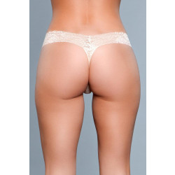 Be Wicked V-Cut Lace Panties Nude