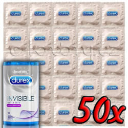 Durex Invisible Extra Lubricated 50 pack