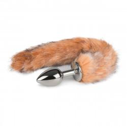 Easytoys Fox Tail Plug No. 7 Silver - Silver Fox Tail