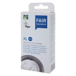 Fair Squared XL 60 - Fair Trade Vegan Condoms 8 pack