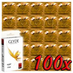 Glyde Super Max - Premium Vegan Condoms 100 pack