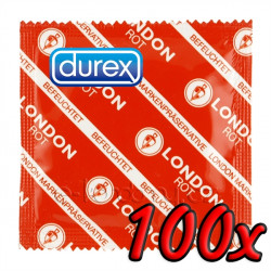 Durex London Rot 100 pack