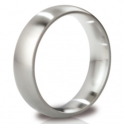Mystim His Ringness The Earl Round Cock Ring 55mm Brushed