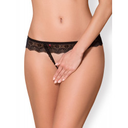 Obsessive 864-THC-1 Crotchless Thong Black