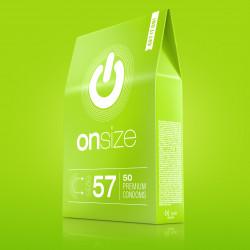 Onsize 57 Premium Condoms 50 pack