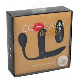 GoGasm Pussy & Ass Vibrator Black