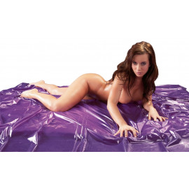 Fetish Collection Vinyl Bed Sheet Purple