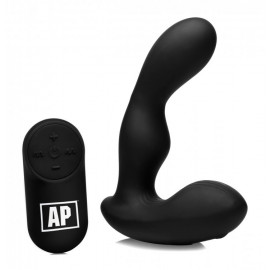 Alpha-Pro 7X P-STROKE Silicone Prostate Stimulator with Stroking Shaft